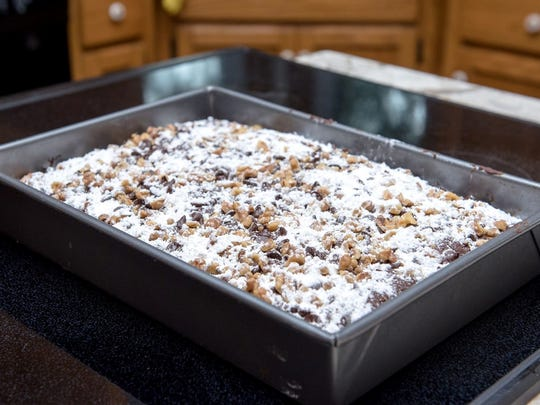 Chocolate chip date cake is a favorite recipe Regina Dunst got from her mother.