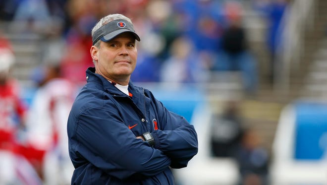 Tim Beckman was fired by Illinois in 2015 after a school-hired investigation into player allegations of mistreatment.