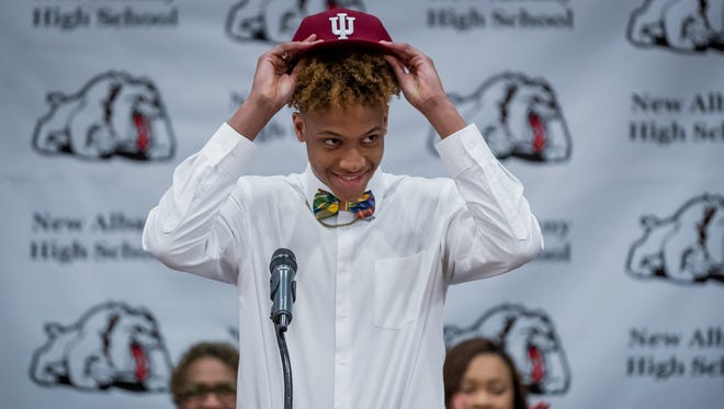 Romeo Langford is the top-rated shooting guard in the class of 2018.