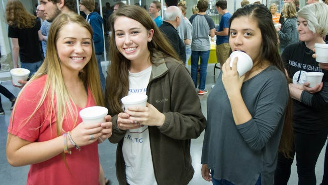 """Students at Rhea County High School in Evensville, Tennessee, were treated to an ice cream sundae celebration after """"reading"""" their way from Evensville to Two Rivers this school year."""