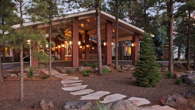 The Little America Hotel in Flagstaff includes walking trails in 500 acres of pine forest, a playground and an outdoor pool and hot tub.