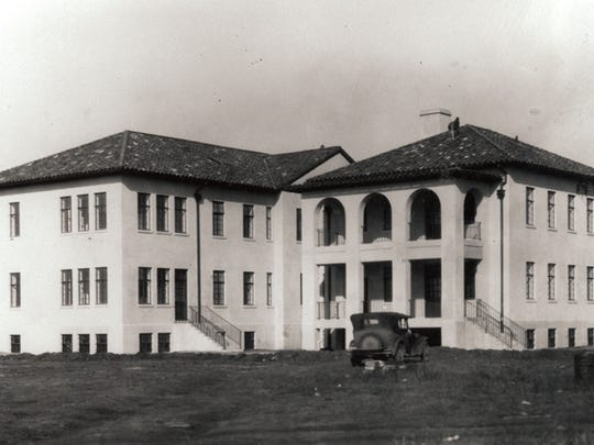 An archival photo shows the future CAP National Headquarters building on Jan. 2, 1932, just after it opened as the Maxwell Air Force Base hospital.