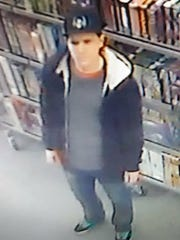 Male shoplifter taken from security camera at Famous Faces and Funnies in West Melbourne.