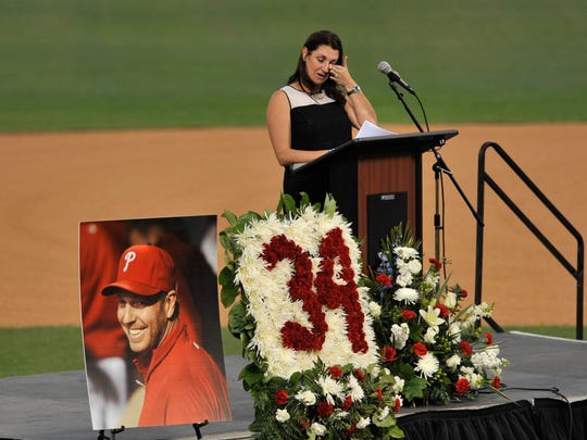 Brandy Halladay, widow of Roy Halladay, talks about