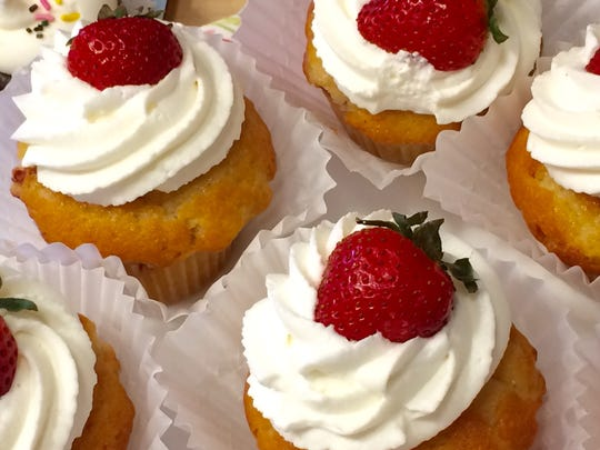 Strawberry shortcake cupcakes at Lucy & Leo's