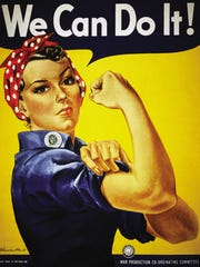 Rose Will Monroe, a Ford employee at the Willow Run Assembly Plant, was the inspiration for the icon Rosie the Riveter poster, symbolizing all U.S. women who worked in manufacturing jobs to support the World War II effort.