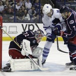 Columbus Blue Jackets' Sergei Bobrovsky made 35 saves in his team's 5-0 victory over the Toronto Maple Leafs.