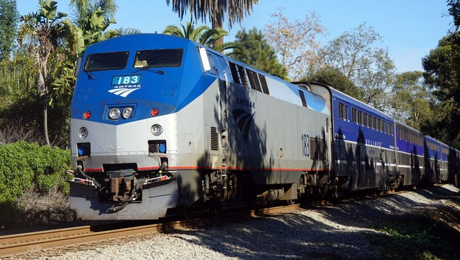 An Amtrak Surfliner train Jan. 13, 2018, in California.