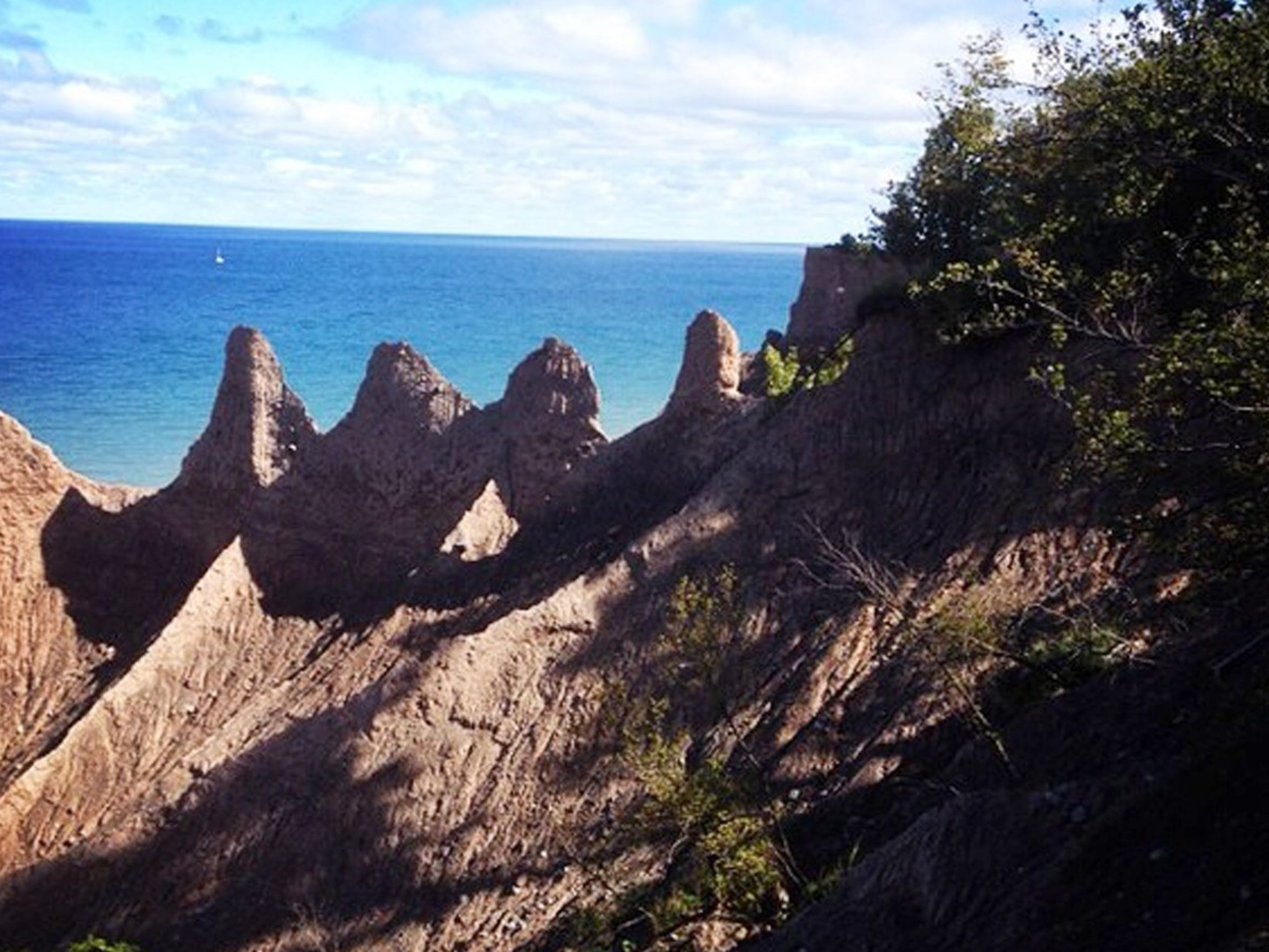 Photo by Beth Tannous of Chimney Bluffs.