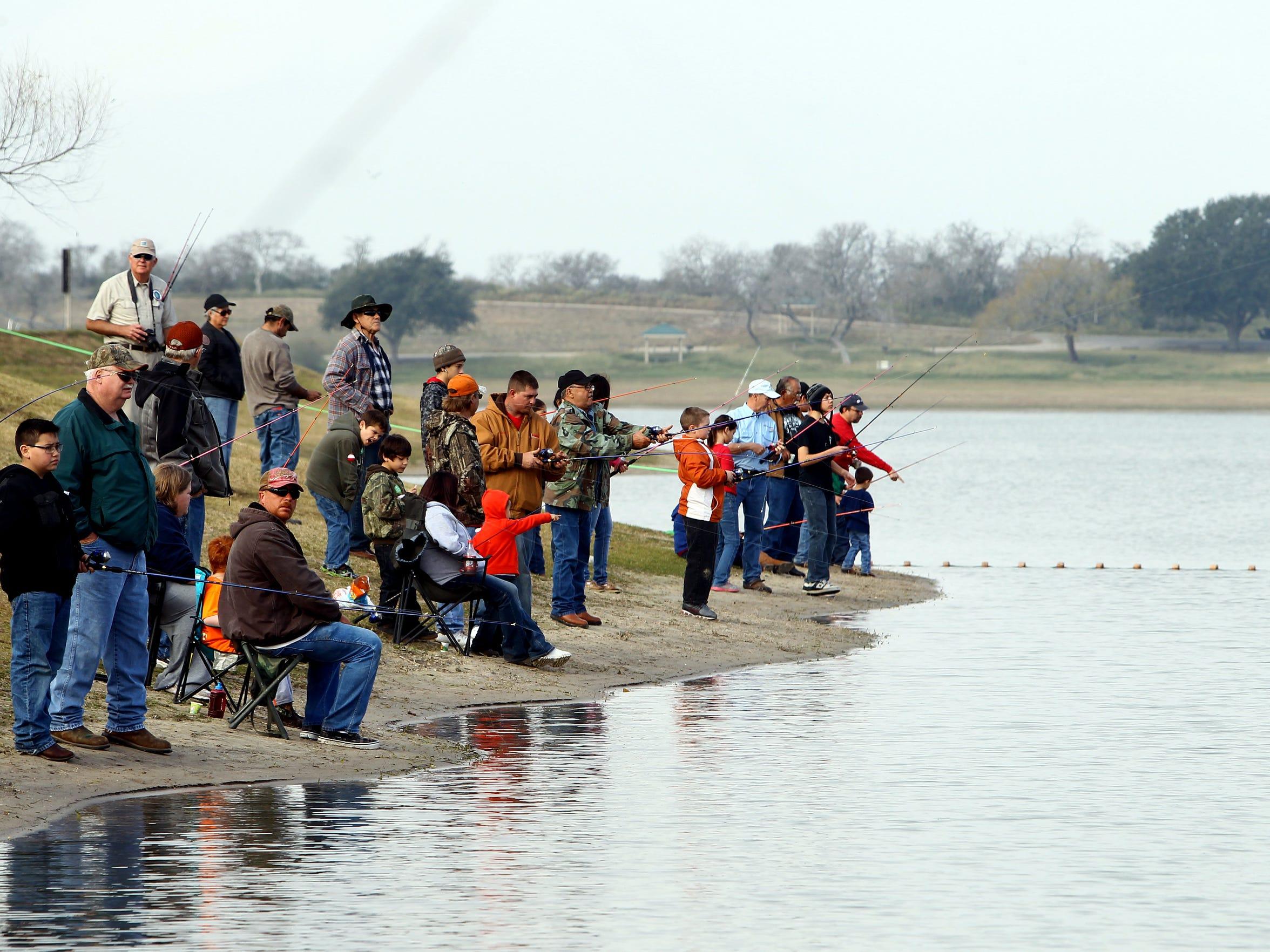 Lake Corpus Christi State Park organizes an annual kid fish event each winter at the lake.