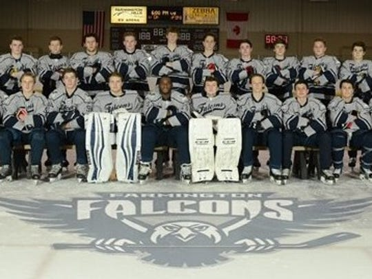 The Famington Falcons hockey team won both of its Michigan