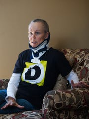 Leslee Henson at her home in Santa Clara on Tuesday,