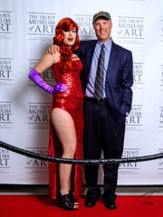 Appleton native Bill Heeter, right, with DeAnna McNeil (dressed as Jessica Rabbit).