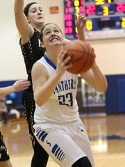 Southeastern's Ella Skeens shoots against Miami Trace