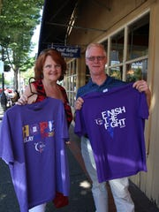 Cancer survivors Bob Shackelford and Kelly Walther came by Holding Court to promote Saturday's Cancer Awareness Faire,