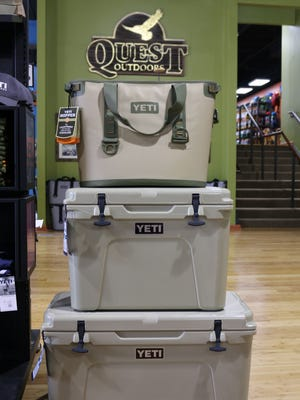 From top to bottom: Yeti Hopper 30, $349.99, Yeti Tundra 50, $379.99, and Yeti Tundra 65 $399.99. all at Quest Outdoors.