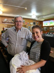 From left, Wix Agency owner Bob Wix and Tasha Saunders,