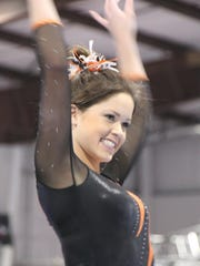 Courtney Casper was the state all-around gymnastics