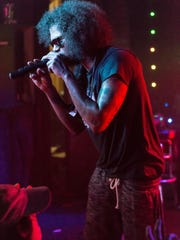 Rapper Ab-Soul preforms songs from his new album 'Do What Thou Wilt.' during his YMF tour at Pots on Fri., Apr. 29th 2017