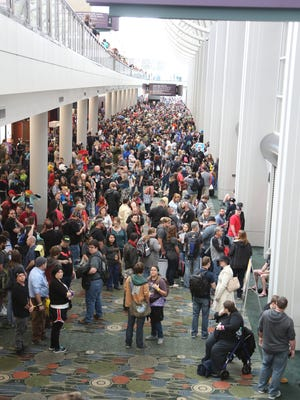 Fans attend day one of Salt Lake Comic Con 2017 at the Salt Palace Convention Center in Salt Lake City, Sept. 21.