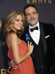 Hilarie Burton, seen here with partner Jeffrey Dean