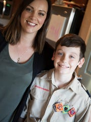 Cape Coral residents, Christie Lawrence and her son,