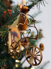 Bike the Brandywine ornaments in the Brandywine River Museum of Art's Critter Sale.