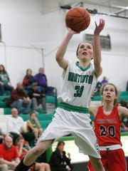 Huntington's Braiden Collins puts up a shot during