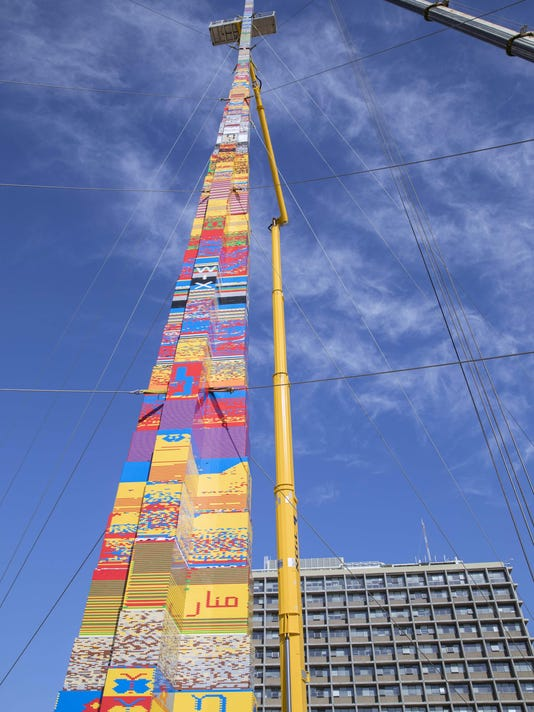 Lego tower beats current Guinness record holder as tallest tower built