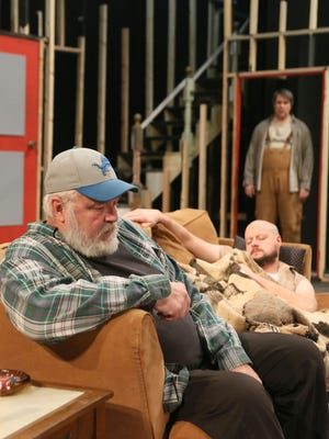 Sam Shepard's 'Buried Child,' performed by Riverwalk centers around a family of farmers in Illinois that harbor a dark secret and more dysfunction than you can shake a stick at. Pictured are Michael Hays as Dodge, Ben Holzhausen as Bradley and Jeff Magnuson as Tilden.