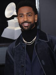 Big Sean arrives at the 60th Annual Grammy Awards at Madison Square Garden.