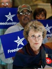 Laura Van Overschelde, a state tea party activist and