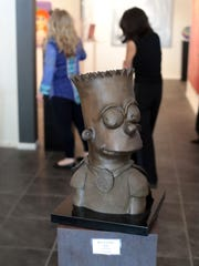 May 4, 2018; Palm Desert, CA, USA;  A bust of Bart Simpson by the voice actress for the Simpson character, Nancy Cartwright at D Gallery.