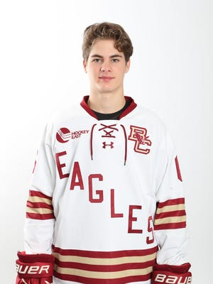 Tim Lovell, a defenseman from Hingham, had an outside shot at being selected during the NHL Draft, but he's concentrating more on setting his collegiate career in motion.