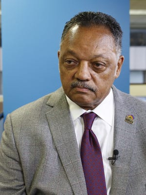 Jackson Rev. Jesse Jackson of the Rainbow Push Coalition in USA Today San Francisco bureau.