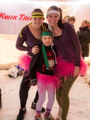A team of plunge participants wears tutus at last year's Polar Plunge in Wausau.