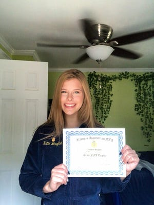 Kathryn Waughtel is among the three Canton FFA members who earned her State FFA Degree during the Illinois State Convention held virtually this year due to COVID-19.