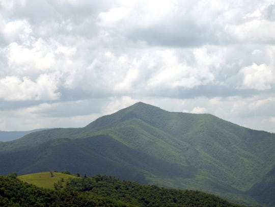 Cold Mountain as seen from the Blue Ridge Parkway in