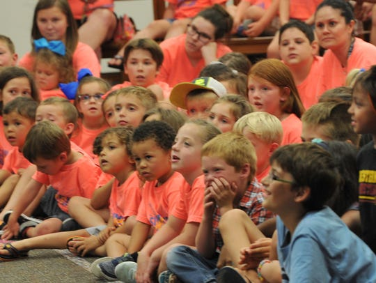 In this file photo, kids watch a performance at the library. During Spring Break the Wichita Falls Public Library will have children's movies Monday-Thursday at 2 p.m. on the second floor with free popcorn and drinks.