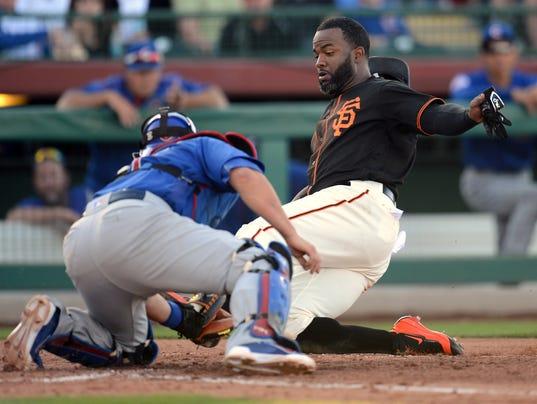 USP MLB: SPRING TRAINING-CHICAGO CUBS AT SAN FRANC S BBN USA AZ