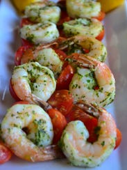 These shrimp take less than 10 minutes and are cooked