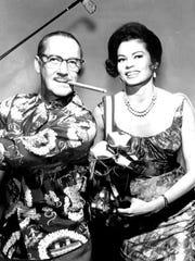 Groucho Marx and Eden Hartford.