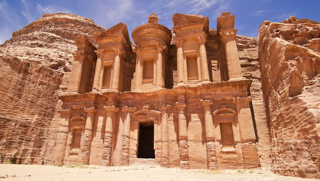 A new tour takes travelers to memorable movie locations around the world, including the red-stone ruins of Petra, Jordan, which set a spectacular backdrop for Indiana Jones' adventures.
