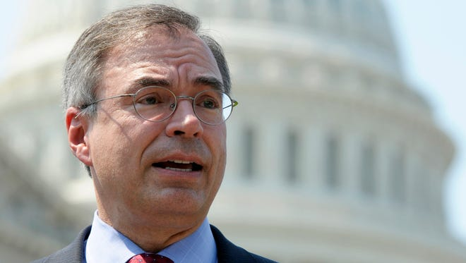 In this June 28, 2012, file photo, Rep. Andy Harris, R-Md., speaks at a news conference outside the U.S. Capitol.