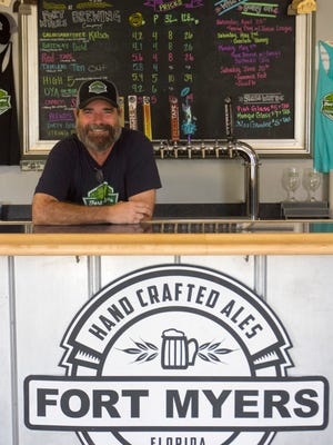Take a Southwest Florida Brewery Tour and you may run into Rob Whyte, who owns Fort Myers Brewing Company with his wife Jennifer Gratz.