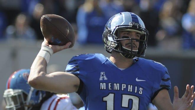 Memphis quarterback Paxton Lynch.