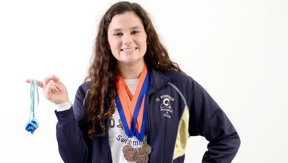 Roberson girls swimmer Anna Newnam.