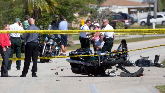 Lee County Sheriff's Office is investigating the scene of an officer involved crash on Woodland  Boulevard in Fort Myers.