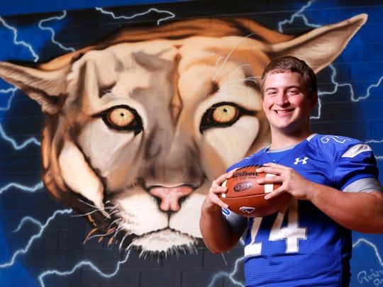 Dylan Spesard of Carroll High School is the 2016 Journal & Courier Small School Defensive Player of the Year for football.
