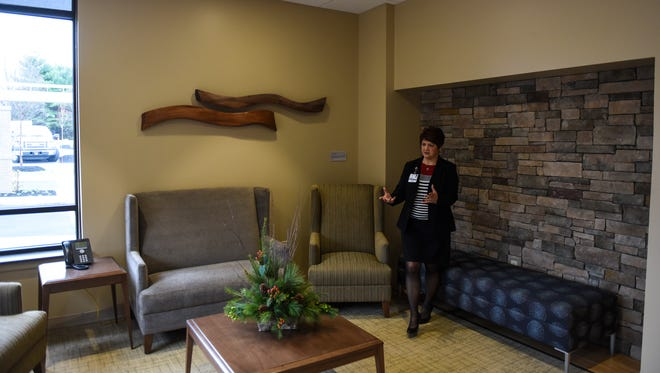 Kelly Smith, oncology director at Wellspan Good Samaritan, talks about the new cancer center as the Wellspan Good Samaritan Secular Family Cancer Center prepares to open on Wednesday, December 16, 2015.